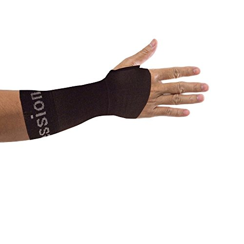 Copper Compression Recovery Wrist Sleeve, Guaranteed Highest Copper Content. Support/Brace Helps with Symptoms of Carpal Tunnel, RSI, Arthritis, Tendonitis, Sprains! (Medium - Single)
