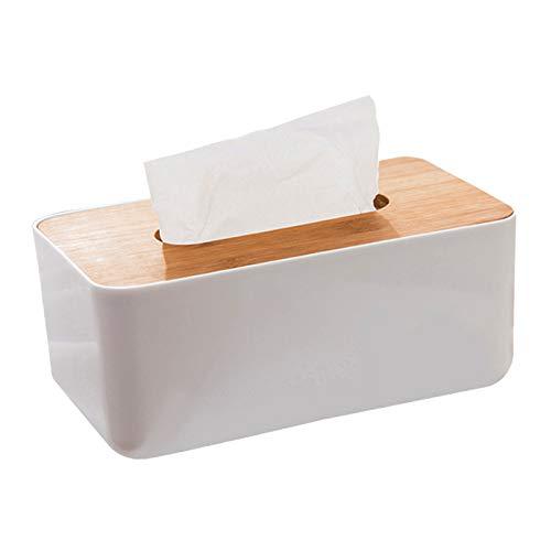 Caja de Tejido Roble Rectangular, Titular de la Cubierta de la Caja del Tejido Facial con la Cubierta de Madera para la encimera de tocador del baño del Coche del Coche del hogar
