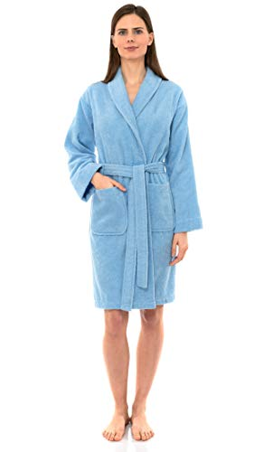 TowelSelections Women's Robe, Turkish Cotton Short Terry Bathrobe Large Angel Falls