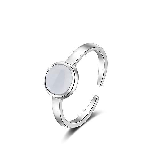 Chandler Ring für Damen und Mädchen, Sterlingsilber, Opal, Ozeanschmuck, verstellbare Größe