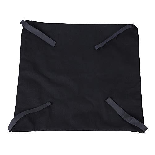 Cat hangmatbed, 2-zijdig onder hangmat Waterdichte warme stoel Tafelhangmatten voor katten Puppy-fretten Konijnen(Zwart + zwart L)