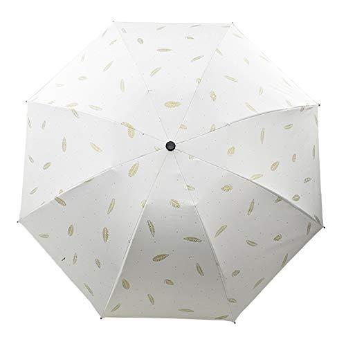 DRBZ Sun Protection Umbrella, Anti-Ultraviolet Three-fold Umbrella, Portable Umbrella, Folding Umbrella for Men and Women, Dual-Purpose Umbrella