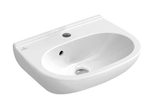 Villeroy und Boch Handwaschbecken O.Novo, halbrunder Waschtisch, Waschbecken, 45 x 35 cm, Weiß, 02509 6