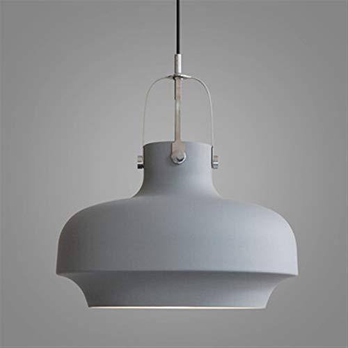 Minimalista oficina de aluminio bar restaurante en la tienda de ropa contador de la lámpara colgante único moderno. (Color : Grey)