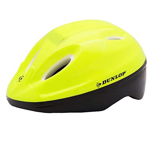 Dunlop. Kinder Fahrradhelm Radhelm Helm für Radfahrer Skater Eisläufer und Skateboarder (Gelb)