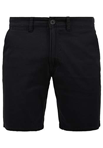 Blend Pierre Herren Chino Shorts Bermuda Kurze Hose mit Stretchanteil, Größe:S, Farbe:Black (70155)