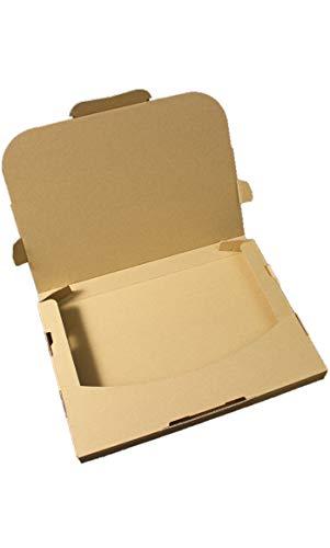 愛パック ダンボール ネコポス 最大 3cm ゆうパケット クリックポスト 対応 A4サイズ 段ボール 箱 梱包 100枚 日本製 無地 薄型素材 (308×220×28mm) nek01-100