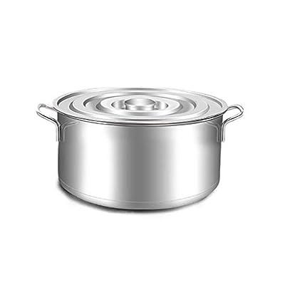 no logo CSJ-CSJ Stainless Steel Stock Pots Casserole Soup Stew Pot Lids,Easy to Clean,Suitable for All Stove Tops (Size : 35 22CM) (Size : 35 22CM) Pans
