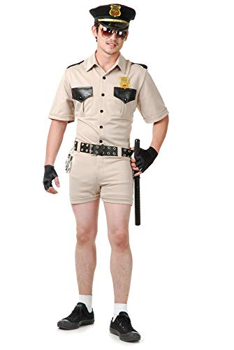 Charades Herren Reno Patrol Kostüme für Erwachsene, Khaki, Large