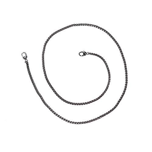 Healifty - Bolsos de mano con correa de cadena plana, 120 cm, cadenas de repuesto para mujer, color negro