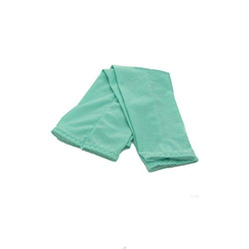 Pair of Cool Bas Sun Protection UV de bras pour hommes manches pour vélo Golf Green