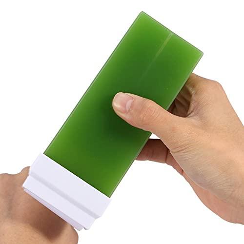 Cera depilatoria, Crema de cera depilatoria suave para toda la piel para depilación corporal(Green apple, Santa Claus)