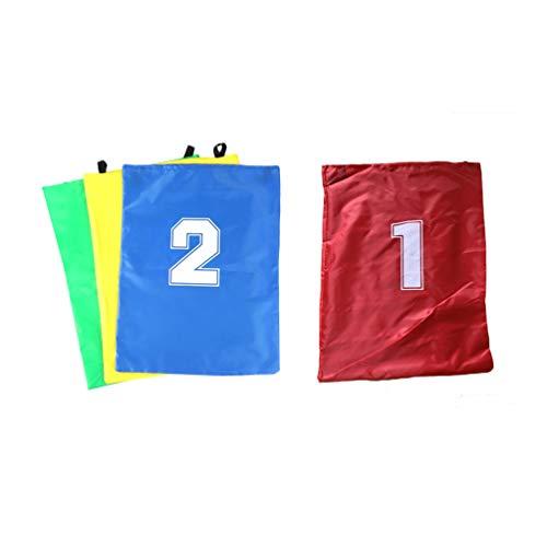 NUOBESTY Bolsa de Juego de Carrera de Sacos para niños de 4 Piezas Bolsa de Juego de Saltos para niños Bolsa de Juego de Entretenimiento para Parque de césped al Aire Libre