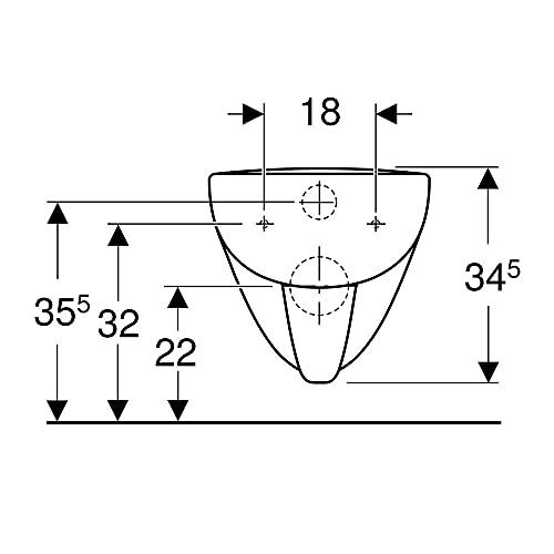 Keramag Renova Nr.1 Plan Tiefspül-WC spülrandlos, wandhängend weiß - 6
