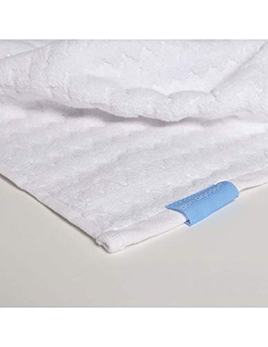 Toalla 100% algodón de 500gr Espiga de Don Algodón (Blanco, Lavabo (50x100cm))