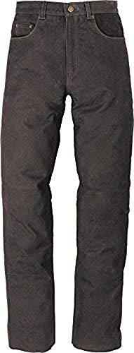 Lederjeans SantaFe - braun - Biker, Western, Motorradhose Jeans - INCH Größen - Freizeit - Neu - Frühling Sommer, Farbe:Braun;Hosen Größe:32