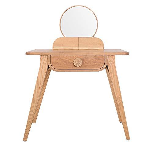 Find Bargain Dressing Table Makeup Kit Wooden Bedroom Dresser Drawer Table 1 Dresser with Mirror Mak...