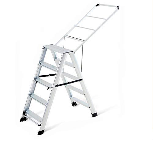 Huishoudelijke Droogrekken, goederen for tweeërlei gebruik Bilaterale Stepladders Barbershop Handdoekrek Balkon Quilt Droogrek Droogrek Ladder (Color : C, Size : 50 * 100 * 160cm)