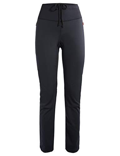 VAUDE Damen Hose Wintry IV, Enganliegende Softshell für den Performance Sport, black, 46, 41644