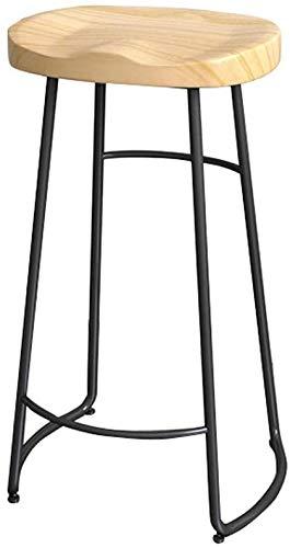 XWYJBD Taburetes for la cocina marco de la barra silla de la cocina taburete de la barra de metal del asiento ergonómico de madera sólida (Tamaño, 45cm, 65cm, 75cm) (Color, A, Tamaño, 45cm), B, los 65