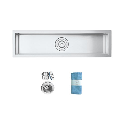 Discover Bargain Oban 32 inch Undermount 16 Gauge Stainless Steel Trough Wet Bar or Prep Sink by Zuh...
