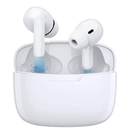 Auriculares Bluetooth 5.1 Auricular Inalámbrico Reducción Activa de Ruido Auriculares Bluetooth TWS Auricular táctil Deporte Impermeable Auriculares with Mini Caja de Carga