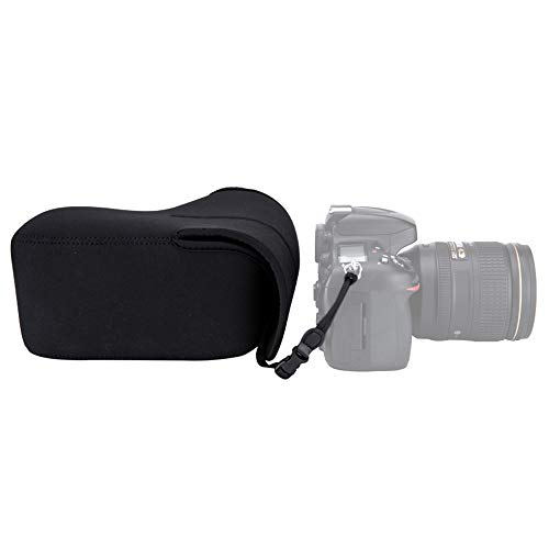 JJC Neoprene Camera Case Pouch for Canon EOS Rebel T6 T7 T8i T7i + 18-55mm Lens,Nikon D3500 D3400 D5600 D5500 + 18-55mm Lens,Fuji X-T3 X-T2 + 18-55mm Lens and More Camera & Lens Below 5.6 x 3.9 x 6.0 -  OC-MC0BK
