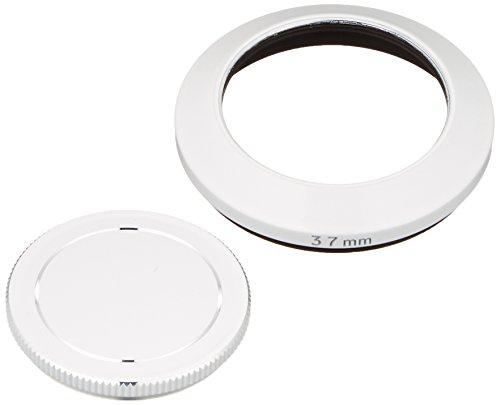 ETSUMI メタルインナーフード+キャップセット 37mm OLYMPUS Mズイコーデジタル17mmf2.8専用 ホワイト E-6466