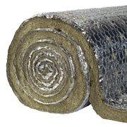 Lana di roccia con alluminio 8000x1000x30 mm classe A1 660°c.