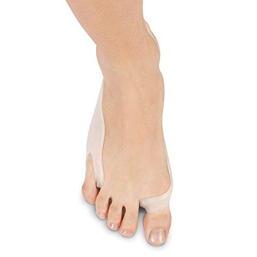 SolesGel Bunion Kissen und Zehen Separator mit Schiene - Big Toe Haarglätter Hilfen entlasten Fußschmerz - hypoallergenem Silikon - Einheitsgroße