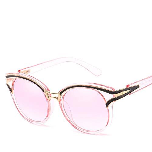 Liuao Gafas de Sol Trend Inlaid Ladies Fashion Gafas Protección UV Gafas de Sol,Style 4