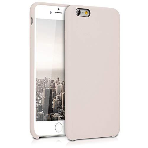 kwmobile Hülle kompatibel mit Apple iPhone 6 Plus / 6S Plus - Hülle Handyhülle gummiert - Handy Hülle in Beige