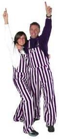 Game Bibs Arlington Mall Purple White Adult Men Portland Mall for Striped Day Overalls