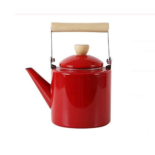 SHYOD Teteras esmaltadas estilo hervidor de 2 litros para teteras halógenas para la mayoría de estufas Kungfu (Color : A)
