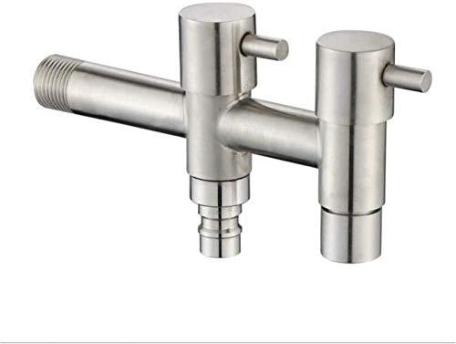 304 roestvrijstalen wasmachine waterkraan lengte verhogen Double Hole Double Control multifunctionele badkamer dweilkraan