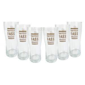 Gaffels Fassbrause Glas Gläser Set - 6X Gläser 0,2l geeicht
