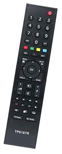 ALLIMITY TP6 TP6187R TP6187 Reemplazo de Mando a Distancia para Grundig TV 40VLE2012EC 42VLC7121C 42VLC7121C-TP3 46VLE7229BF