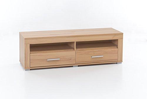 WILMES Lowboard mit 2 Schubladen, Spanplatte, Melamin Dekor Kernbuche, 120 x 37 x 39 cm