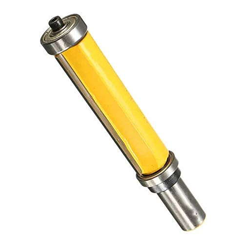 LKK-KK Drill Shank Flush Trim Router Bit Top with Bottom Bearing Woodworking Tool 1/2 Inch Drill Accessories