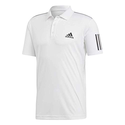 adidas Men's Club 3-Stripes Tennis Polo Shirt, White/Black, X-Large
