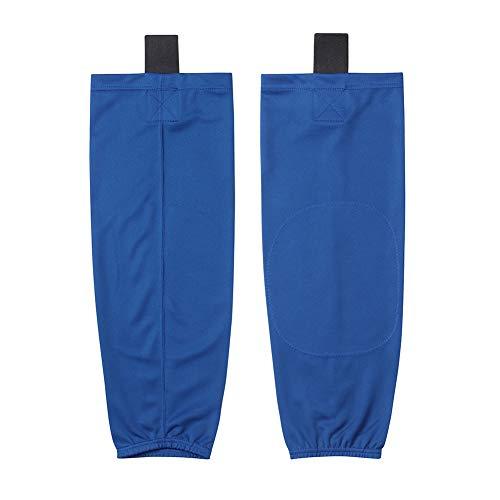 EALER HS80 Series calcetines de hockey sobre hielo de color sólido para practicar deportes de hielo para hombres y niños, adultos y jóvenes - Azul - S (61/ 66 cm)