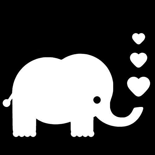 LGLGXR Dibujos animados bebé elefante pegatina de bebé de alta calidad de la ventana de la ventana de la ventana personalidad PVC calcomanía impermeable negro/blanco, 18 cm X 12 cm