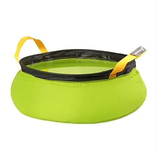 Lavabo plegable portátil 20D Nylon resistente al desgarro ultra ligero para pesca, camping, jardinería, viajes, actividades al aire libre 10L