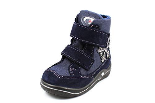 RICOSTA Mädchen Winterstiefel HILDI, WMS: Mittel, wasserfest, Freizeit leger Winter-Boots Outdoor-Kinderschuhe warm Kids,Marine/Nautic,23 EU / 6 UK