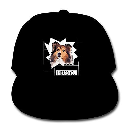 Whhfashion Shepherd Dog Owner - Gorra de béisbol para niños y niñas, estilo hip hop, gorra ajustable para senderismo, 6-12T, color negro