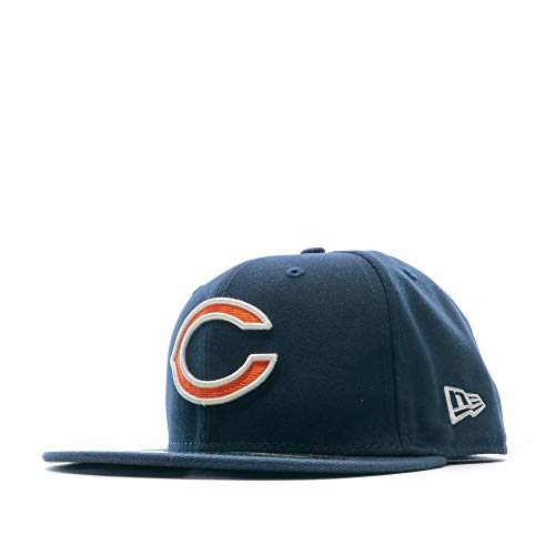 New Era Baseball Cap Mütze für Erwachsene NFL Chicago Bears on Field 59 Fifty Fitted, 41169_276088, Blau / Weiß, 58,7 cm