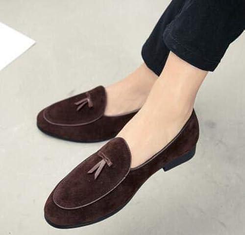 LOVDRAM Chaussures en Cuir Cuir Cuir pour Hommes Mode été Style Doux S Hommes Mocassins Chaussures De Haute Qualité Gland Hommes ApparteHommests Chaussures De Conduite 18c