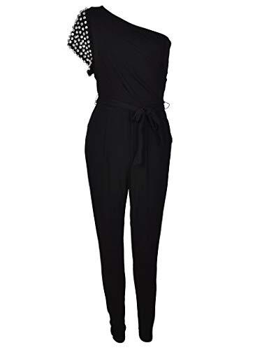 Michael Kors Luxury Fashion Damen MH78XM07AW001 Schwarz Viskose Overall | Jahreszeit Permanent