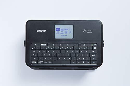 Brother PT-D800W Professionelles PC-Beschriftungsgerät mit WLAN und separater Tastatur (für 3,5 bis 36 mm breite TZe-Schriftbänder, Thermotransfer-Druckverfahren)