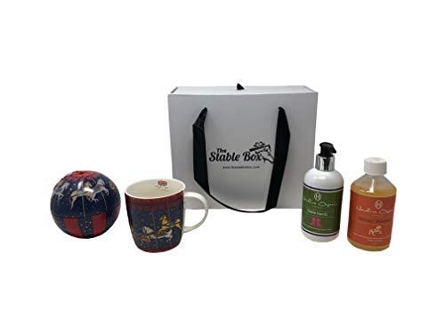 De stabiele doos gemaakt in Britian Horse & Rider Paardensport Gift Set - Kerstmis, Stud, Likit